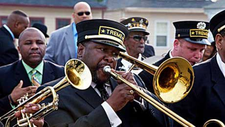New Orleans Treme Brass locatie Tot op het Bot